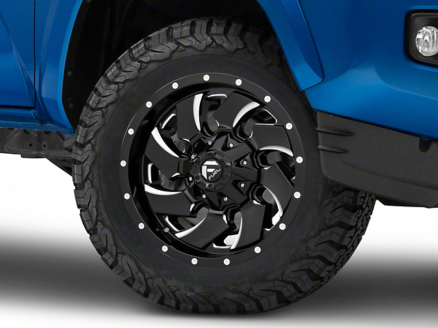 Fuel Wheels Cleaver Gloss Black Milled 6-Lug Wheel; 18x9; -12mm Offset (16-20 Tacoma)