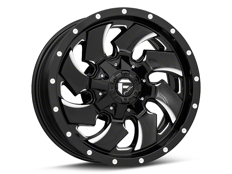 Fuel Wheels Cleaver Gloss Black Milled 6-Lug Wheel - 18x9 (05-20 Tacoma)