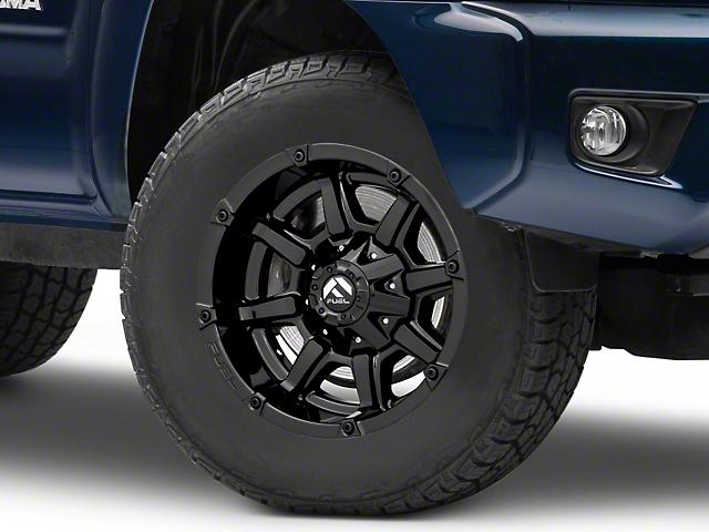 Fuel Wheels Coupler Gloss Black 6-Lug Wheel; 17x9; -12mm Offset (16-20 Tacoma)
