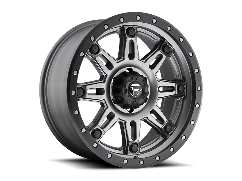 Fuel Wheels Hostage III Anthracite w/ Black Ring 6-Lug Wheel - 18x9 (05-20 Tacoma)