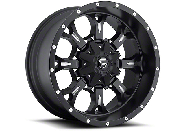 Fuel Wheels Krank Matte Black Milled 6-Lug Wheel; 20x10; -24mm Offset (05-15 Tacoma)