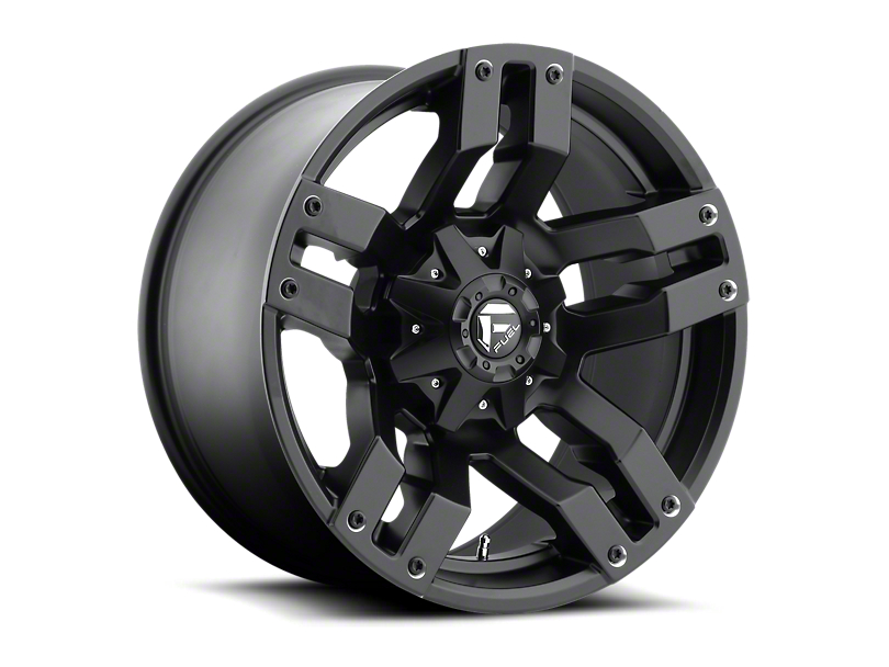 Fuel Wheels Pump Matte Black 6-Lug Wheel; 18x9; 14mm Offset (05-15 Tacoma)