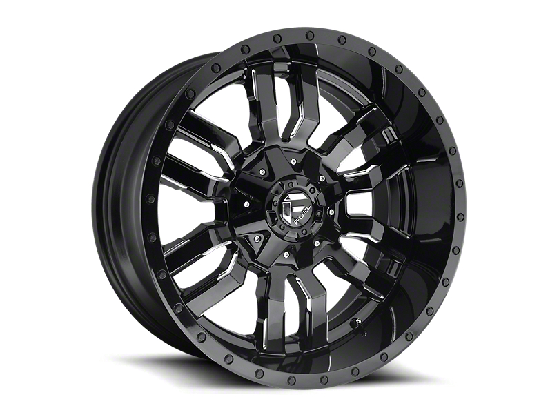 Fuel Wheels Sledge Gloss Black Milled 6-Lug Wheel - 17x9 (05-19 Tacoma)