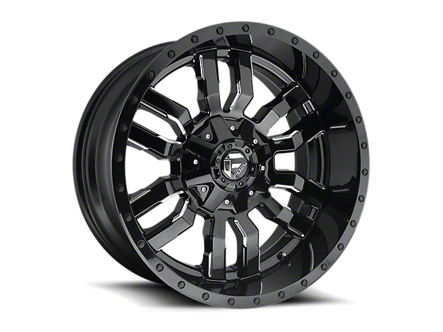 Fuel Wheels Sledge Gloss Black Milled 6-Lug Wheel - 17x9 (05-20 Tacoma)