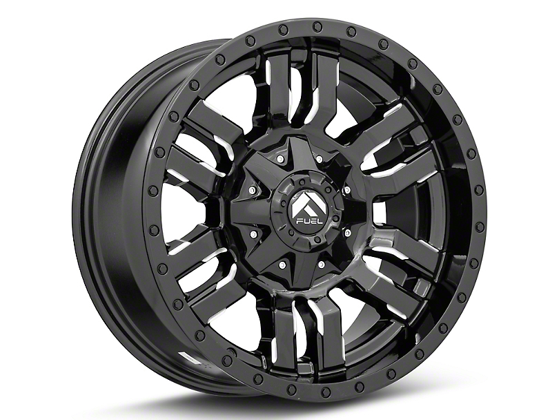 Fuel Wheels Sledge Gloss Black Milled 6-Lug Wheel; 18x9; 1mm Offset (05-15 Tacoma)