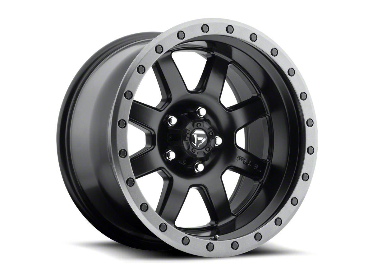 fuel wheels tacoma trophy matte black w anthracite ring 6 lug wheel 17x8 5 tt5715 05 20 tacoma fuel off road