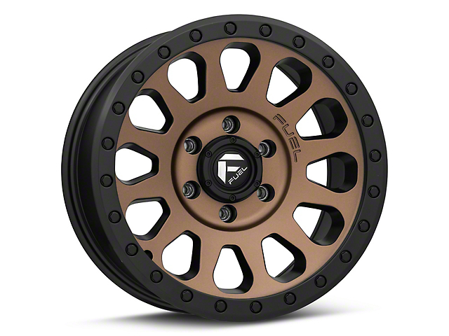 Fuel Wheels Vector Bronze 6-Lug Wheel; 17x8.5; 7mm Offset (05-15 Tacoma)