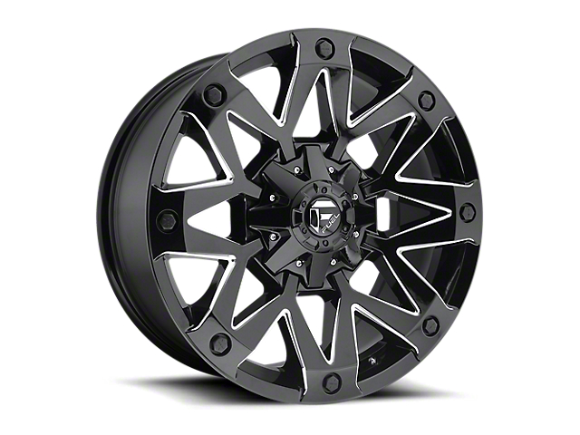 Fuel Wheels Ambush Gloss Black Milled 6-Lug Wheel; 17x9 (05-20 Tacoma)