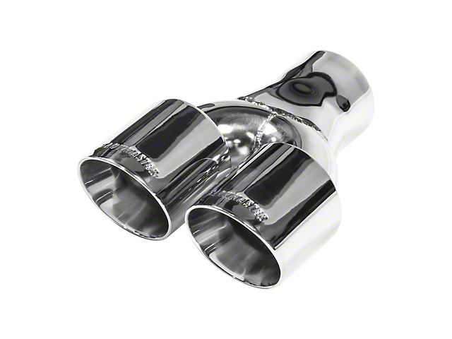 Flowmaster 3-Inch Polished Dual Angle Cut Exhaust Tip; 3-Inch Connection (Universal Fitment)