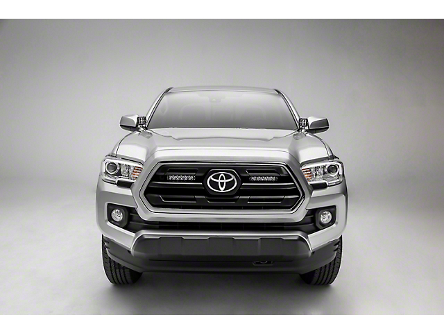 ZRoadz Two 6 in. LED Light Bars w/ Behind Top Grille Mounting Brackets (18-19 Tacoma, Excluding TRD)