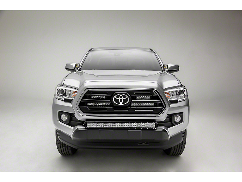 ZRoadz 6 Inch & 10 Inch LED Light Bars w/ Behind Grille Mounting Brackets (18-20 Tacoma, Excluding TRD)