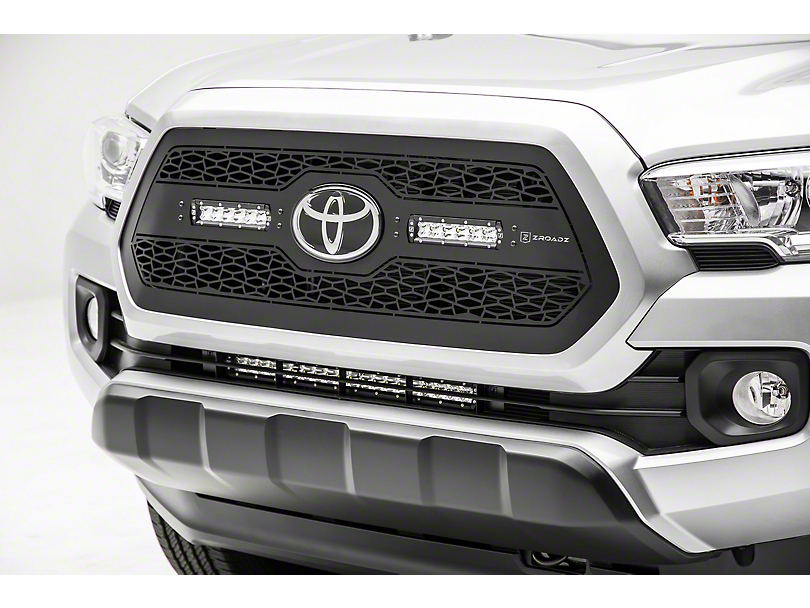 ZRoadz 20 in. LED Light Bar Behind Lower Grille Mounting Brackets (18-19 Tacoma)
