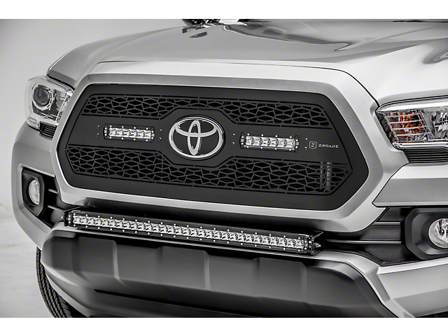 ZRoadz 30 in. Single Row LED Light Bar w/ Front Bumper Mounting Brackets (18-19 Tacoma)