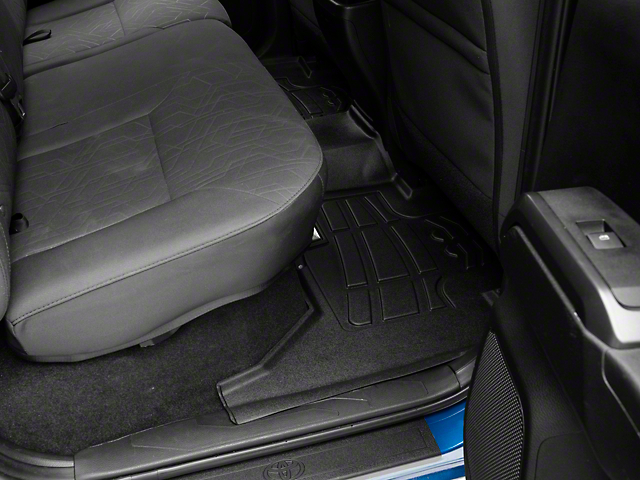 RedRock 4x4 Sure-Fit Second Row Floor Liner; Black (05-20 Tacoma Double Cab)
