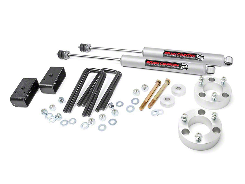 Rough Country 3 in. Suspension Lift Kit (05-20 6-Lug Tacoma)