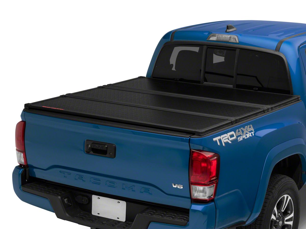 Rough Country Tacoma Hard Tri Fold Tonneau Bed Cover 45716501 16 20 Tacoma W 5 Ft Bed