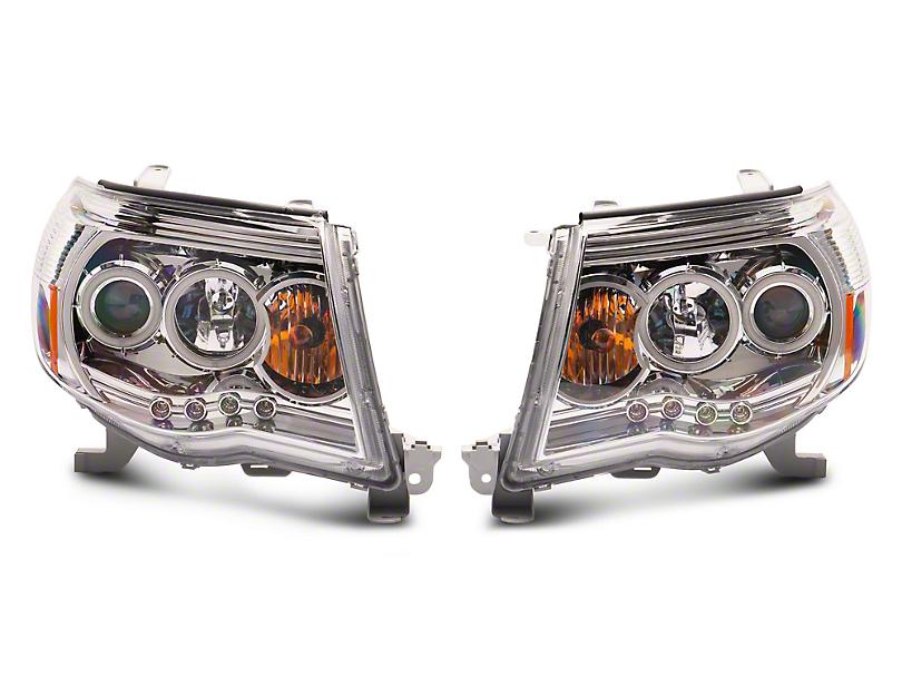 Chrome Super White Halo Projector Headlights (05-09 Tacoma)