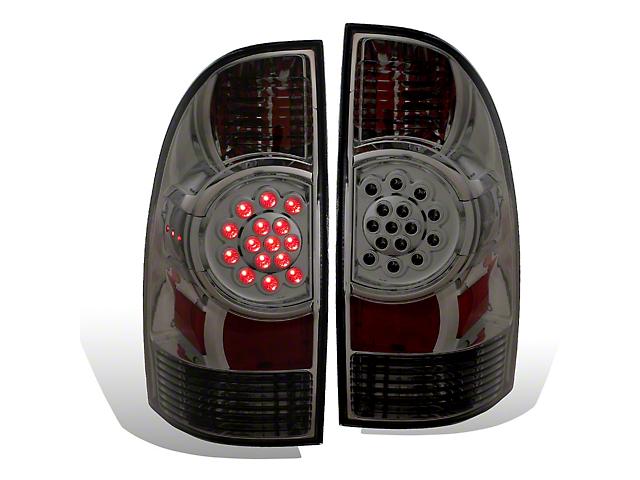LED Tail Lights; Smoked (05-06 Tacoma)