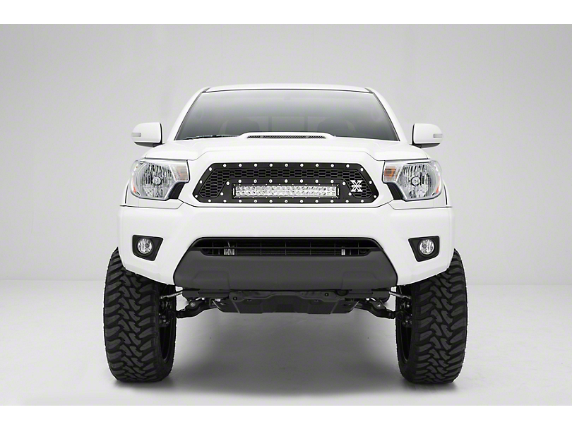 T-REX Laser Torch Series Upper Grille Insert w/ 20 in. LED Light Bar - Black (12-15 Tacoma)