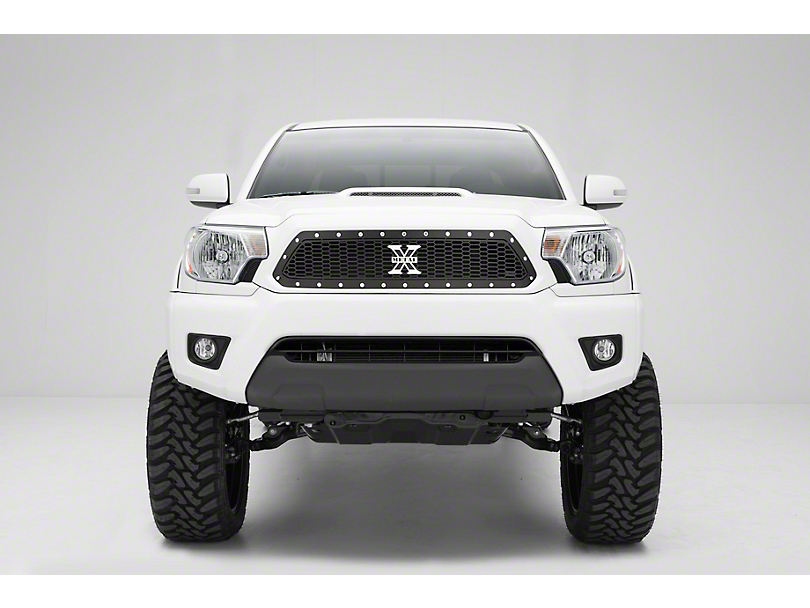 T-REX Laser X-Metal Series Upper Grille Insert; Black (12-15 Tacoma)