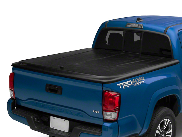 UnderCover SE Hinged Tonneau Cover; Black Textured (16-20 Tacoma)