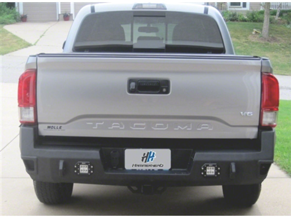 Hammerhead Rear Bumper W Flush Mount Reverse Light Cutouts 16 20 Tacoma