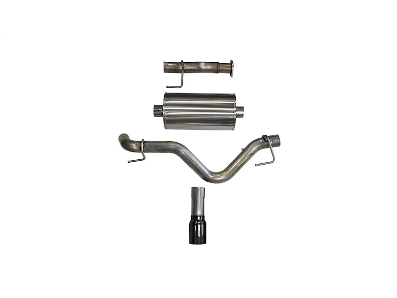 Corsa 3-Inch Sport Single Exhaust System with Black Tip; Side Exit (16-20 3.5L Tacoma)