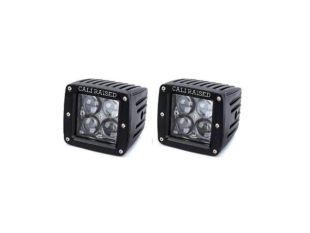 Cali Raised LED 2x2 in. 20W LED Fog Lights w/ Mounting Brackets - Spot Beam (05-11 Tacoma)