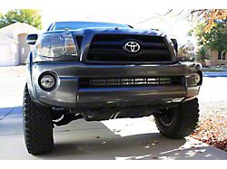 Cali Raised LED 32-Inch Stealth LED Light Bar with Bumper Mounting Brackets; Combo Beam (05-15 Tacoma)