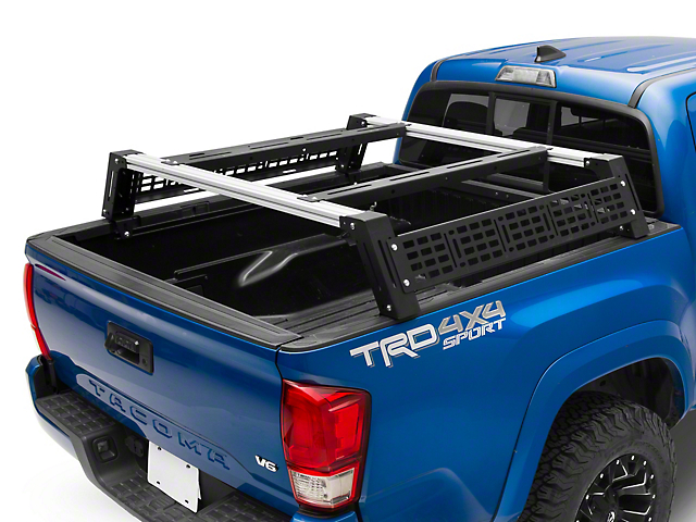 Cali Raised LED Mid Height Overland Bed Rack System (05-20 Tacoma)