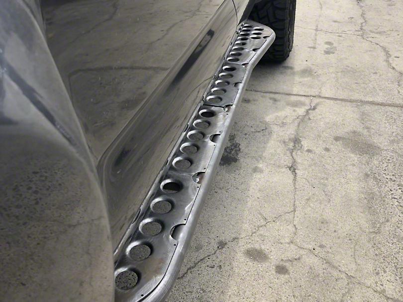 Cali Raised LED 0 Degree Wheel-to-Wheel Bolt-On Step Rock Sliders - Raw (05-19 Tacoma)