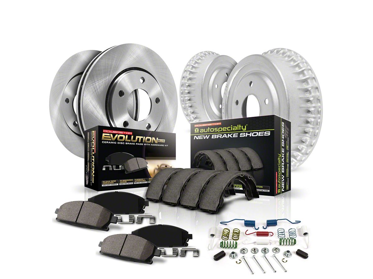 REAR KIT OE Replacement Brake Rotors with Ceramic Pads /& Hardware Kit
