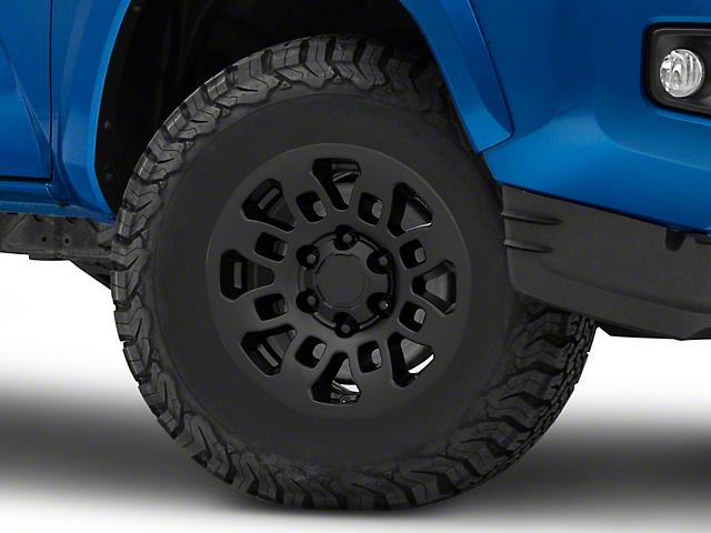 TRD Style Pro Matte Black 6-Lug Wheel; 16x7; 13mm Offset (16-21 Tacoma)