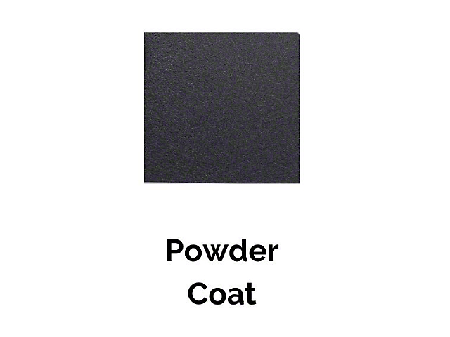 Cali Raised LED Rock Slider Black Powdercoating Service