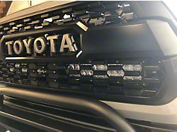 Cali Raised LED 32-Inch Dual Row LED Light Bar with Hidden Grille Mounting Brackets; Spot Beam (16-21 Tacoma)