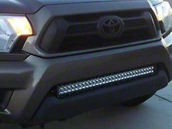 Cali Raised LED 32-Inch Flush LED Light Bar with Bumper Mounting Brackets; Spot Beam (05-15 Tacoma)