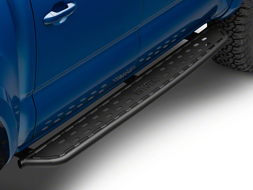 Havoc Offroad HST Tube Nerf Running Boards - Textured Black (05-20 Tacoma Double Cab)