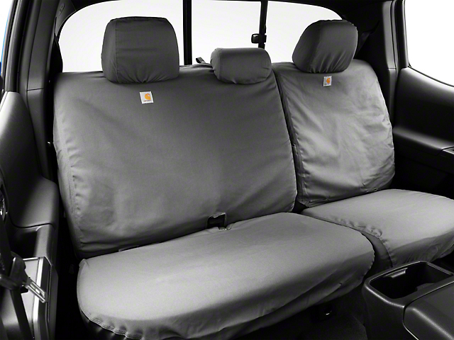 Covercraft Carhartt SeatSaver Second Row Seat Cover; Gravel (16-21 Tacoma Double Cab)
