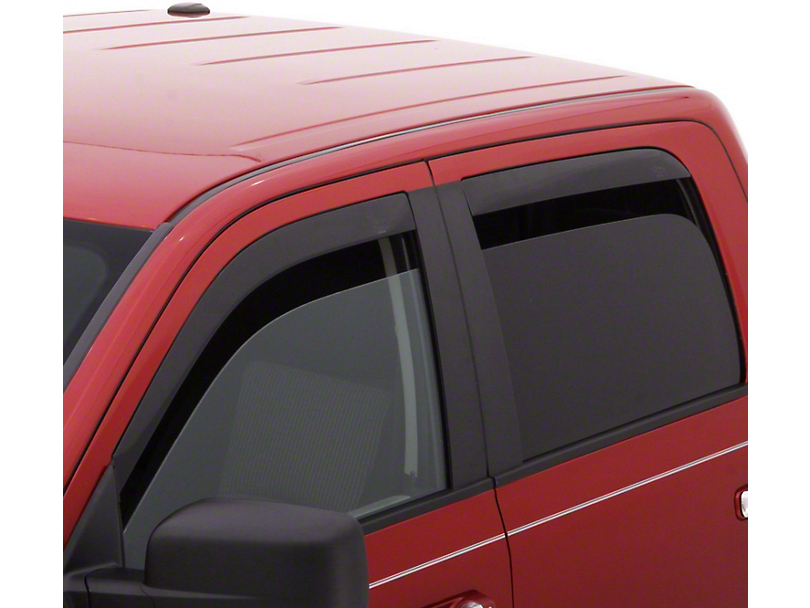 Low Profile Front & Rear Rain Guards - Dark Smoke (16-20 Tacoma Double Cab)
