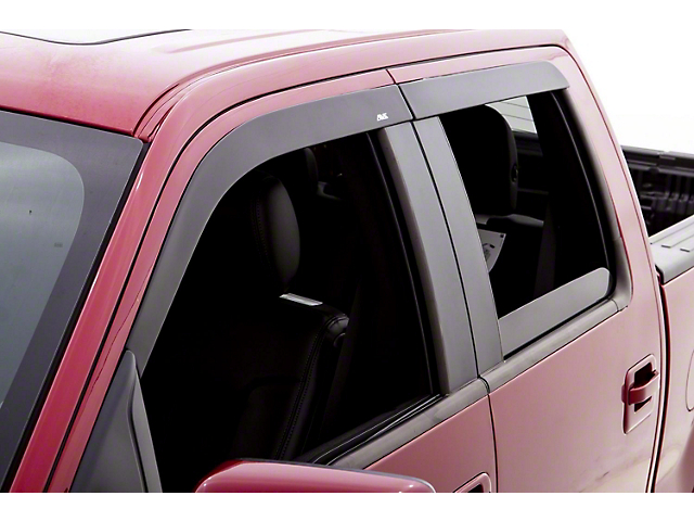 Low Profile Ventvisor Window Deflectors; Front and Rear; Matte Black (05-15 Tacoma Double Cab)