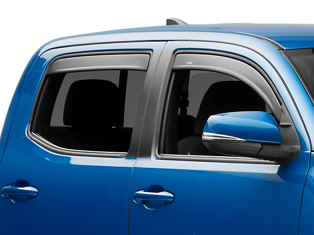 Low Profile Front & Rear Rain Guards - Matte Black (16-20 Tacoma Double Cab)