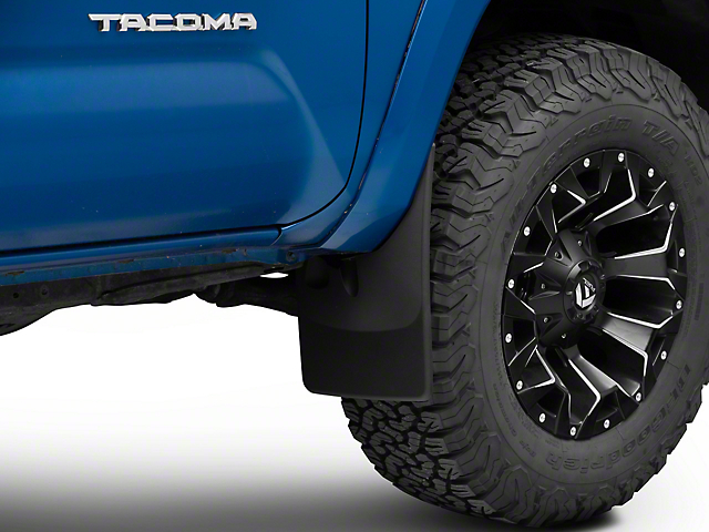 Weathertech No-Drill Mud Flaps; Front and Rear; Black (16-21 Tacoma)
