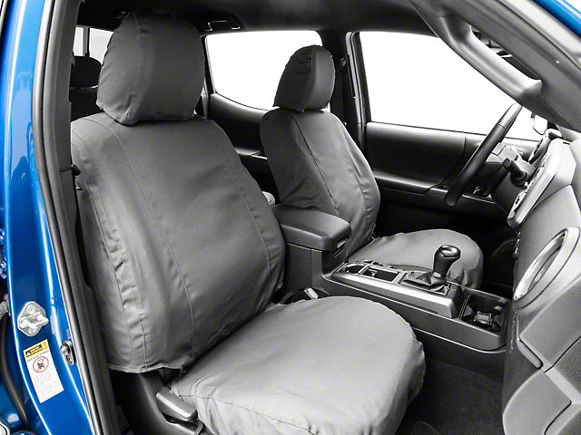 Covercraft SeatSaver Front Seat Covers; Charcoal Black (14-21 Tundra w/ Bench Seat)