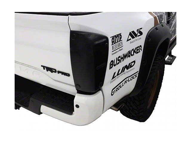 Tail Shades Tail Light Covers; Smoked (16-20 Tacoma)