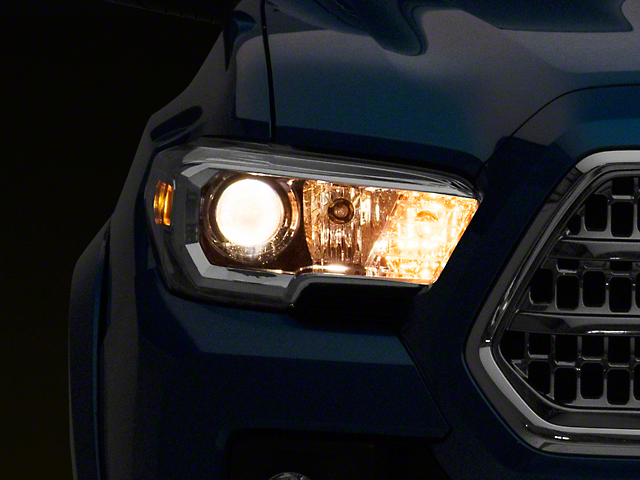 OEM Style Projector Headlights; Black Housing; Clear Lens (16-21 Tacoma w/o Factory LED DRL)