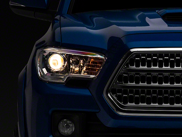 Projector Headlight; Passenger Side; Chrome Housing; Clear Lens (16-21 Tacoma)