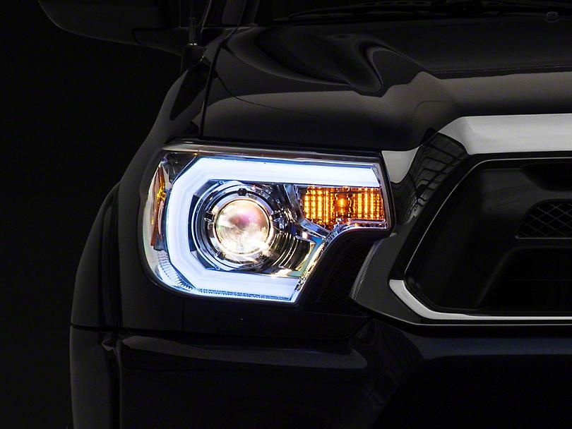 Light Bar DRL Projector Headlights - Chrome (12-15 Tacoma)