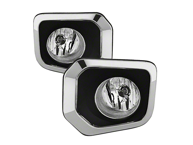 OEM Style Fog Lights with Switch; Clear (16-18 Tacoma)