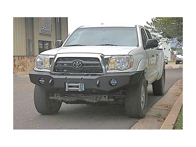 Expedition One Winch Front Bumper; Textured Black (05-11 Tacoma)