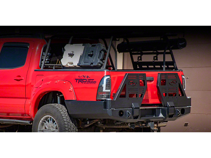 Expedition One High Clearance Dual Swing Arm Rear Bumper - Textured Black (05-15 Tacoma)